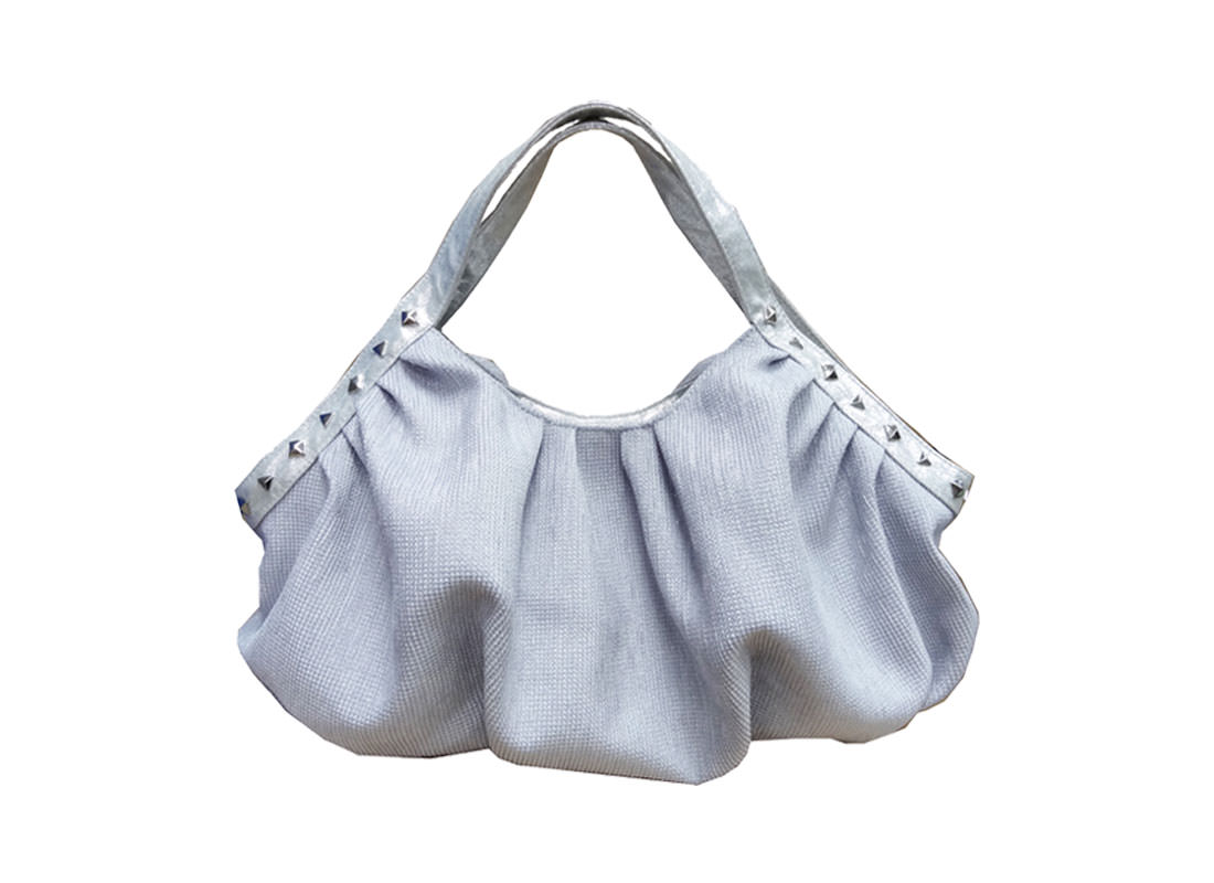 Women Handbag in Silver Color