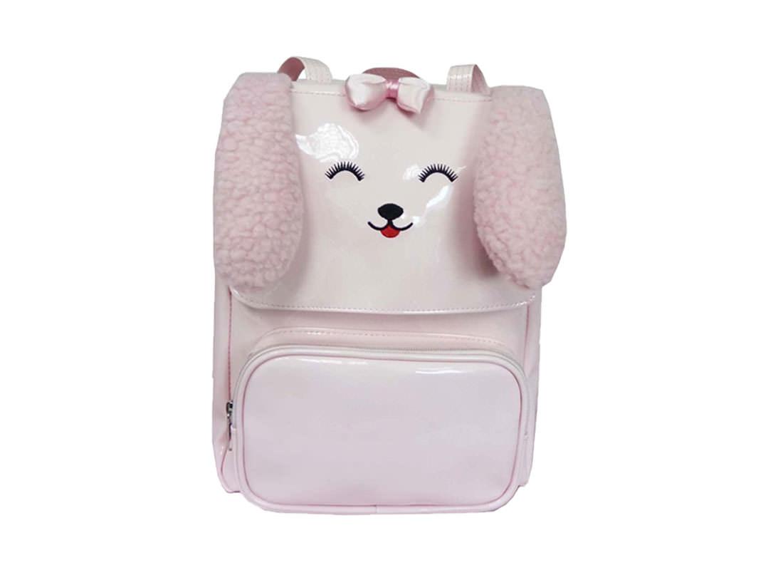 Dog Shaped Kids Backpack in Pink