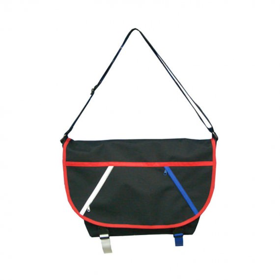 Casual Messenger bag with colorful zipper