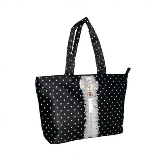suit style mini tote with dot printing