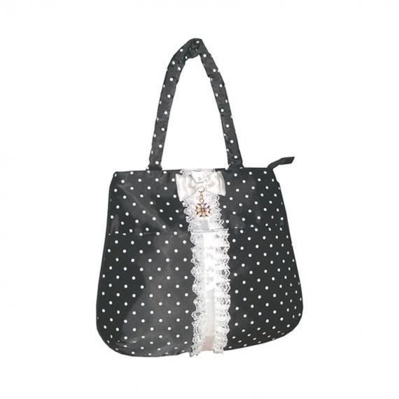 mini handbag tote bag with dot printing