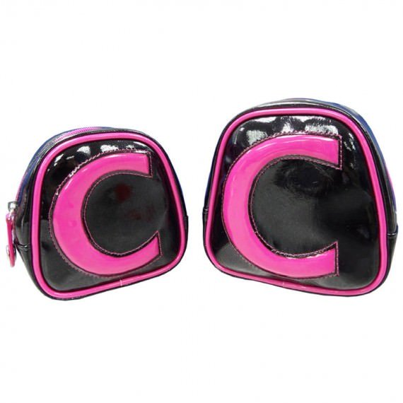 Black Small Bag with Pink Trimming two sizes choices