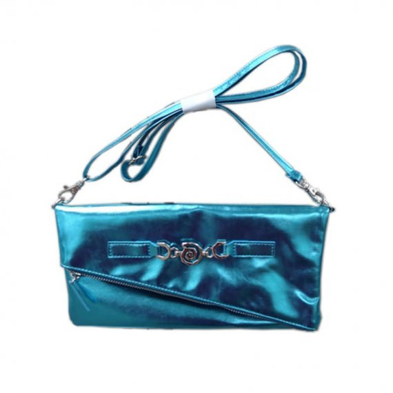 Shiny Pouch with Detachable Shoulder Strap