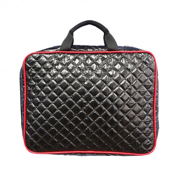 "Black Quilted Laptop Bag for 15"" Laptop"
