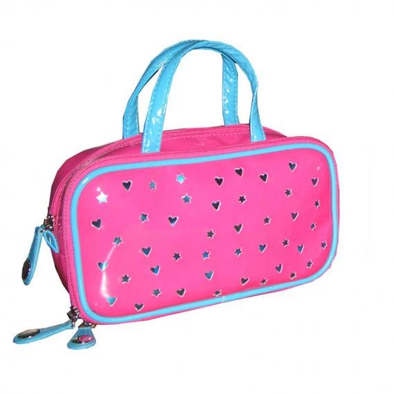 Long Cosmetic Bag with Handle