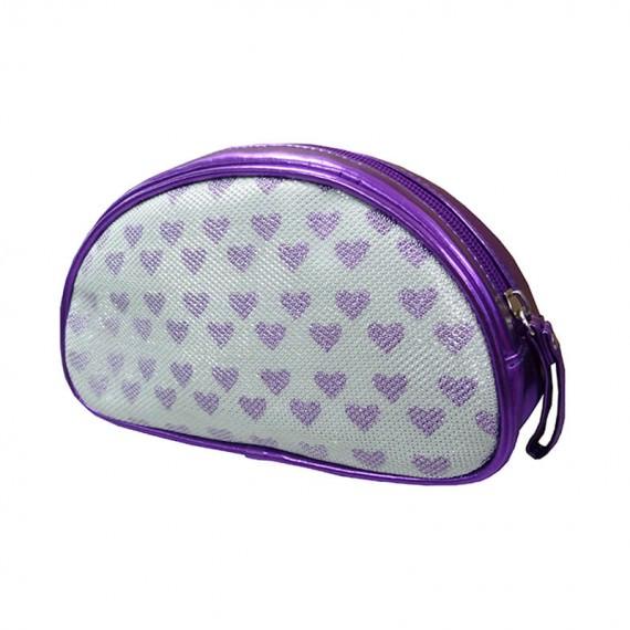 Purple Heart Zipper Pouch