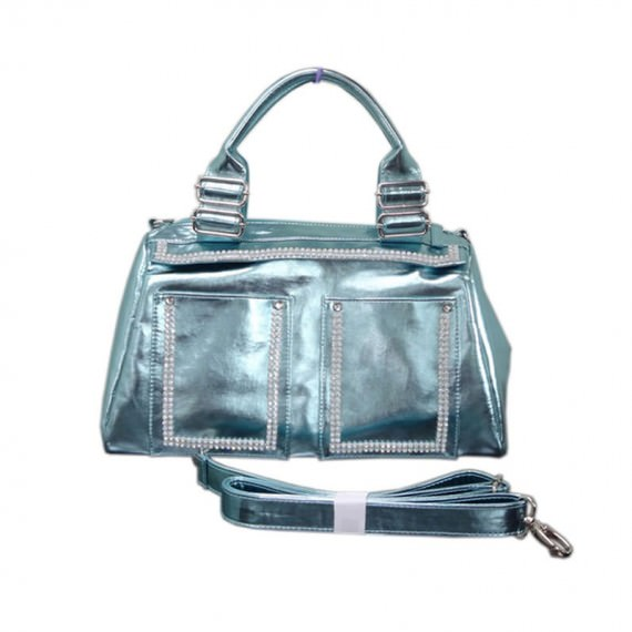 Metallic Blue Handbag