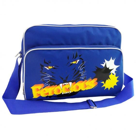Sport Messenger Bag in Blue with Tiger Prinitng