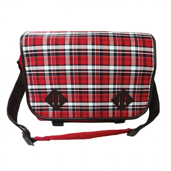 Plaid Messenger Bag