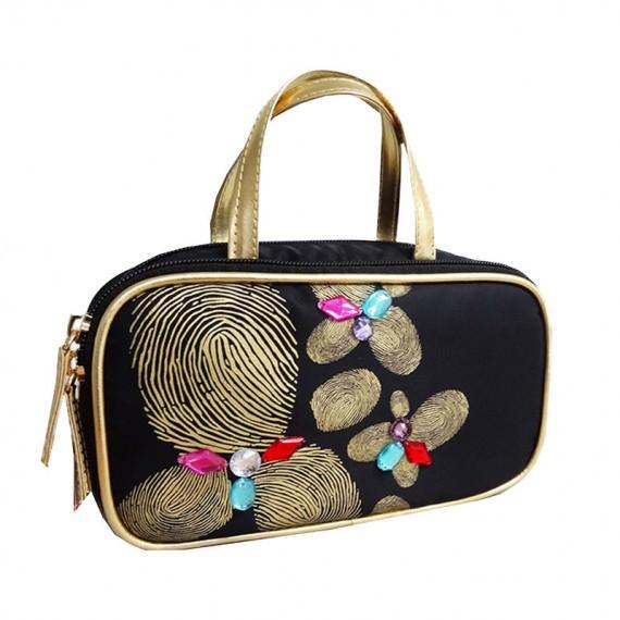 Fingerprint Flower bag cosmetic bag