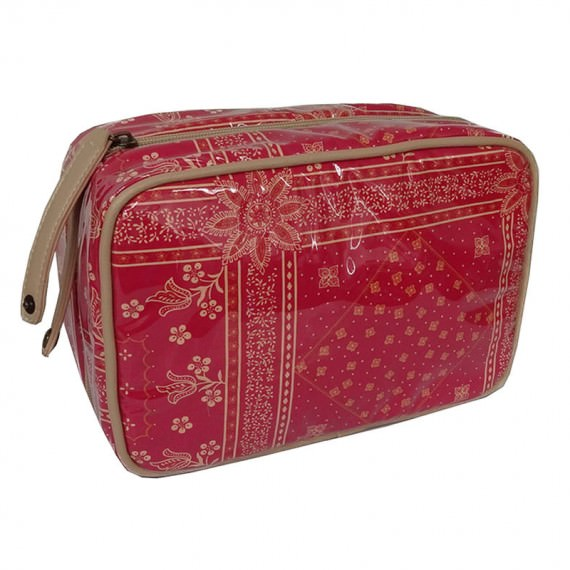 Organizer Pouch with multiple pockets in Red Color