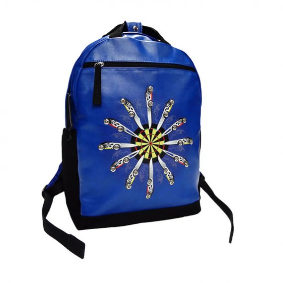 Faux Suede and PU leather Backpack with Printing & Studs