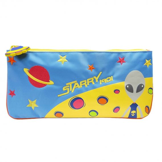Large Pencil Case with Alien Printing