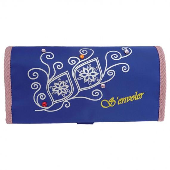 cosmetic bag with eyebrow pencil organizer
