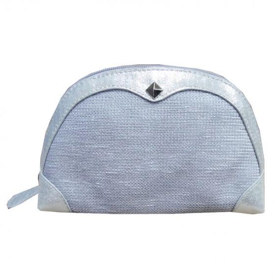 Cosmetic Purse in Silver Color