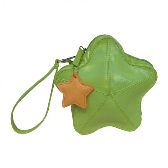 Star Shaped Pouch for Children Green