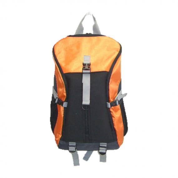 Large Backpack in Orange & Black