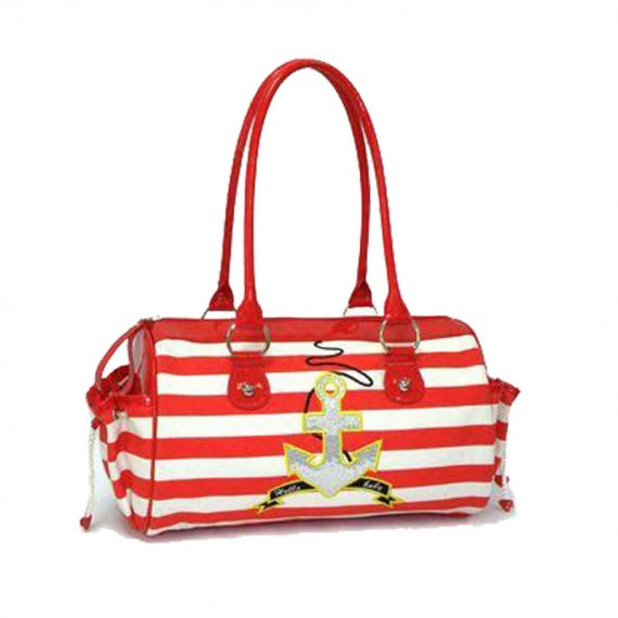 Striped Canvas Handbag