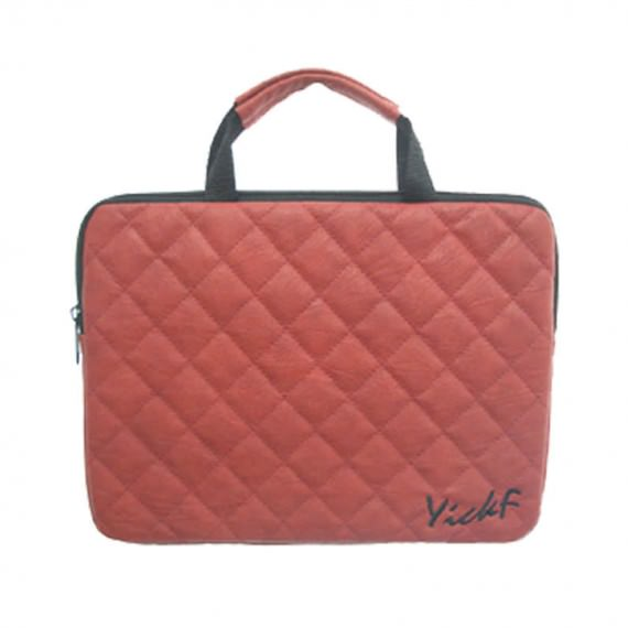 """Quilted 10"""" Laptop Bag in Coral"""