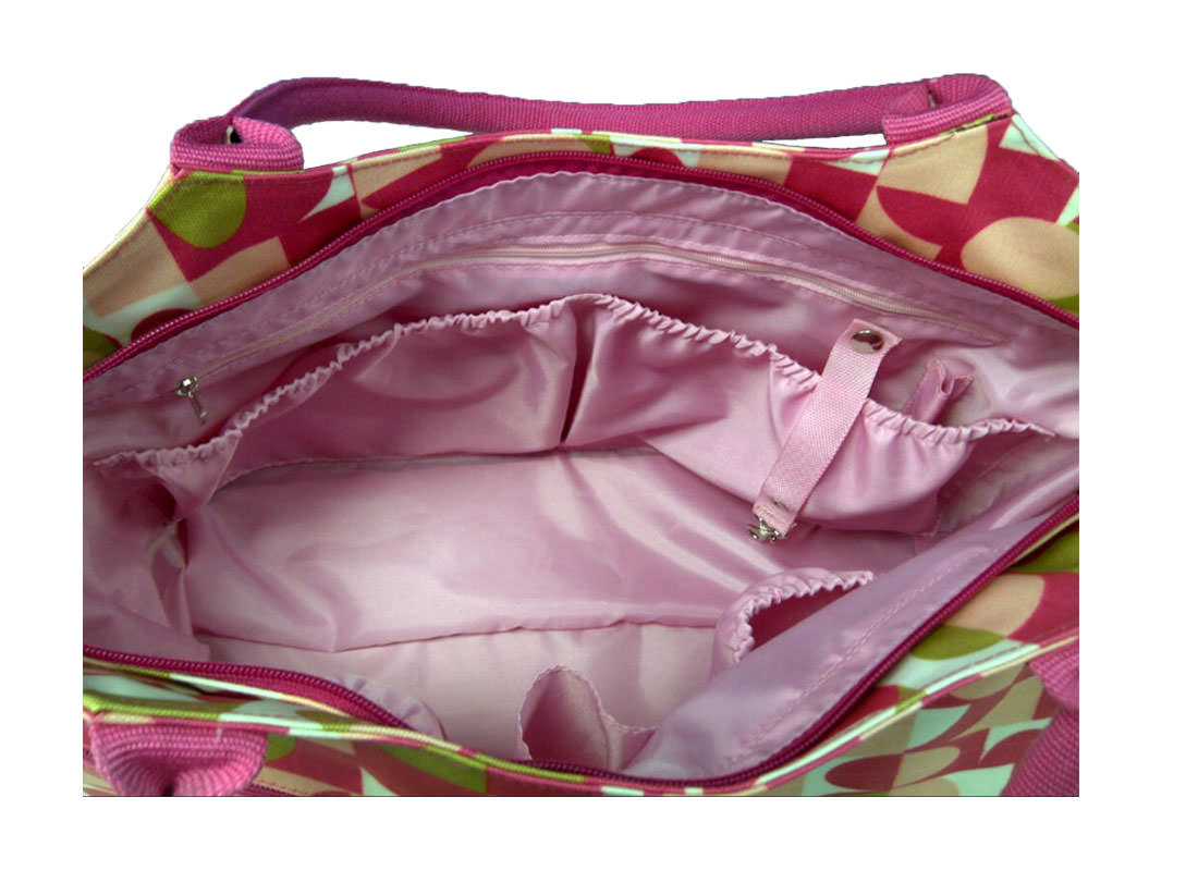 Canvas with Coating Mommy Bag interior 1