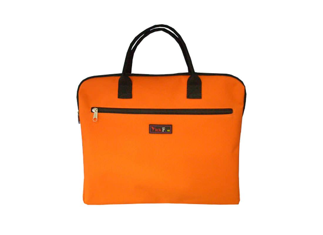 Simple Document Bag in Orange