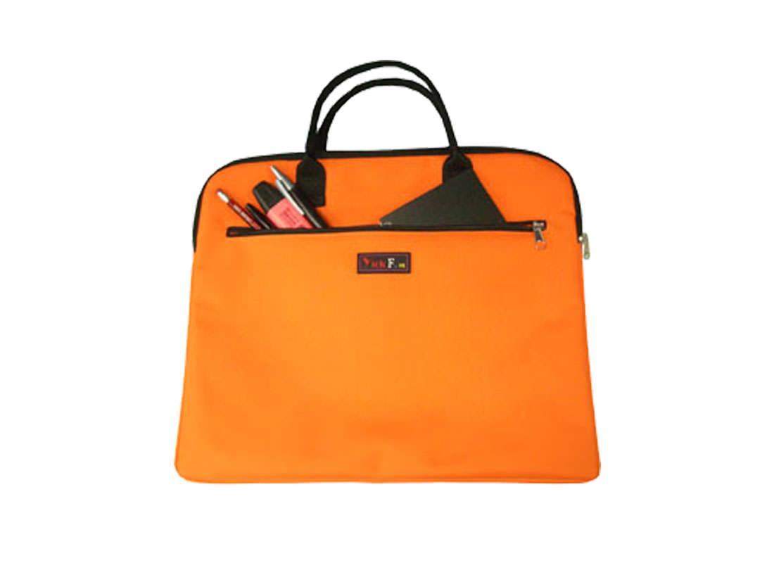 Simple Document Bag in orange Front open