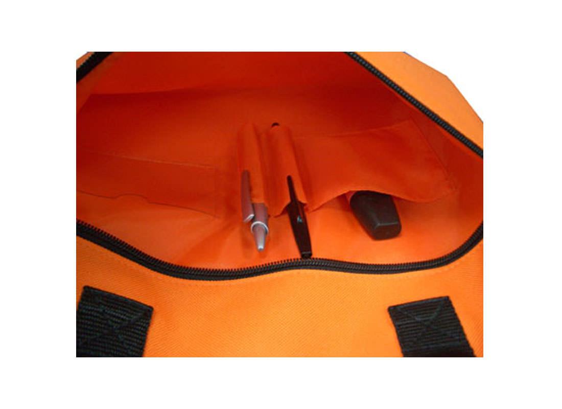 Simple Document Bag in Orange Open