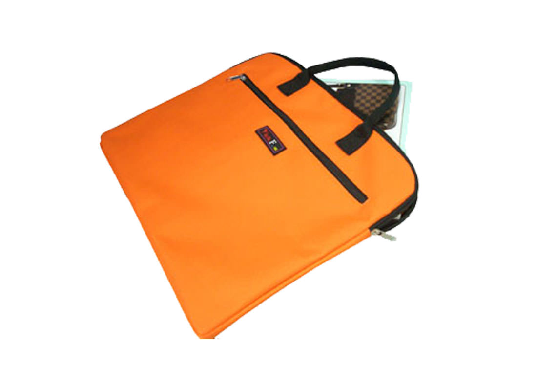 Simple Document Bag in Orange Side