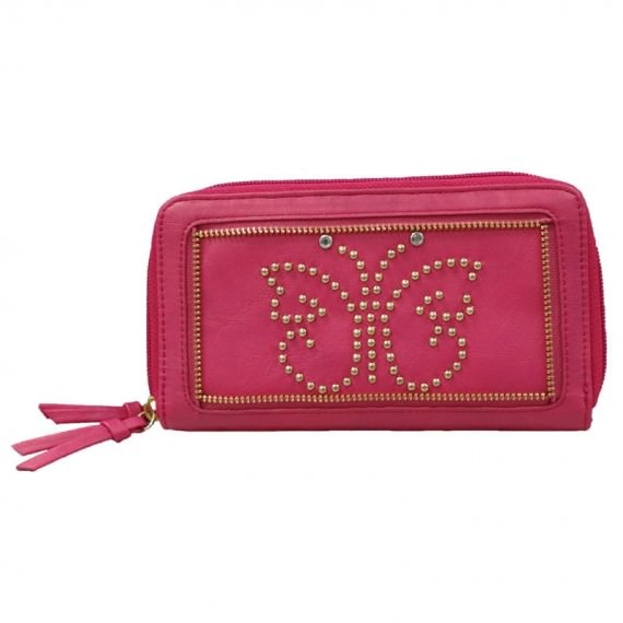 Women Wallet Cherry Pink Long Wallet