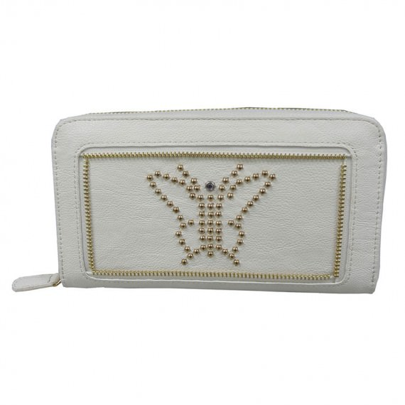 Long White Wallet