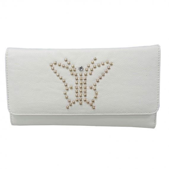 Long White Wallet