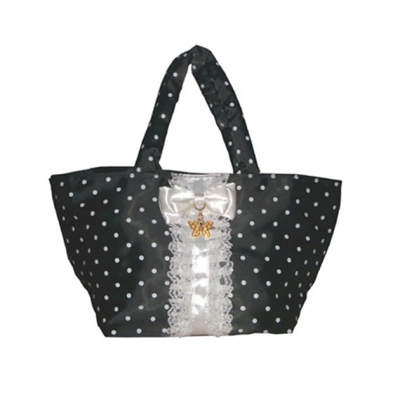 Suit Style Small Size Tote with white dot printing