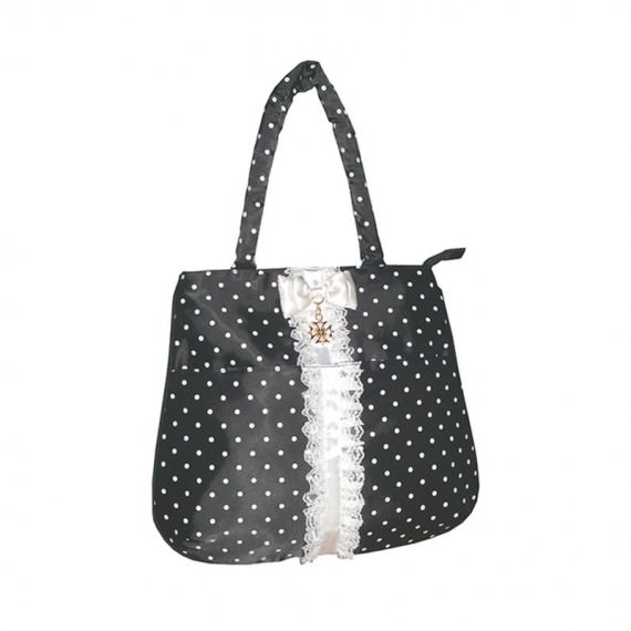 mini handbag tote bag with dot printing