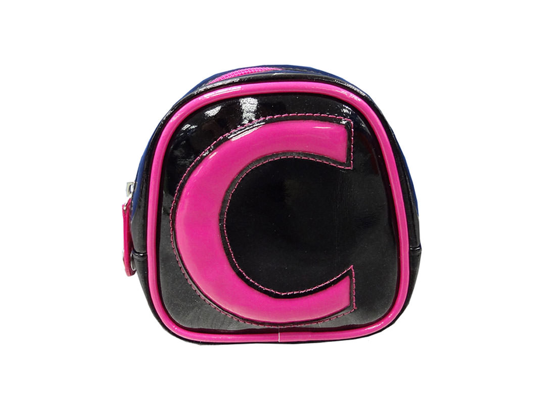 black small bag with pink trimming