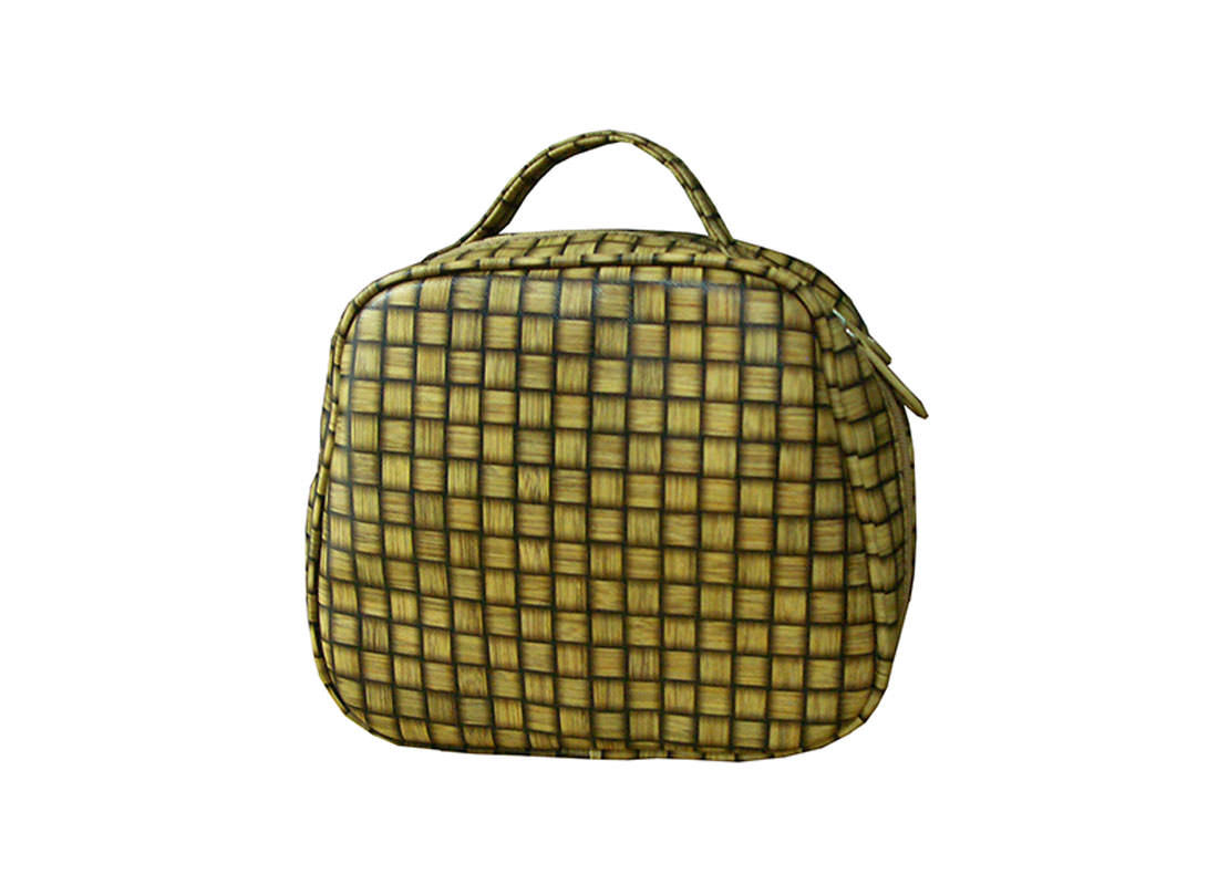 checkered Pattern cosmetic bag