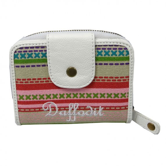 Colorful Striped Canvas Wallet