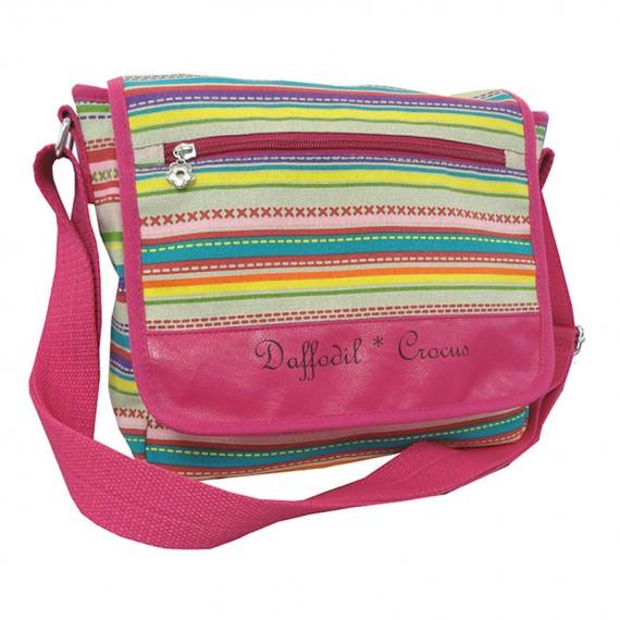 Striped Canvas Shoulder Bag