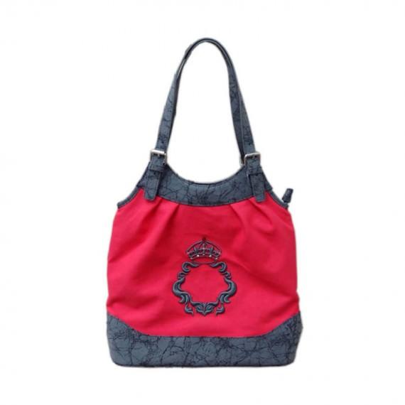 Women Canvas Handbag in Red