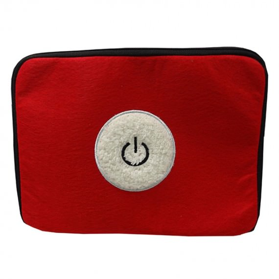 Felt Tablet Sleeve with Power Button Embroidery