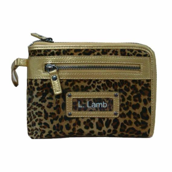 Velvet Wallet in Leopard Pattern