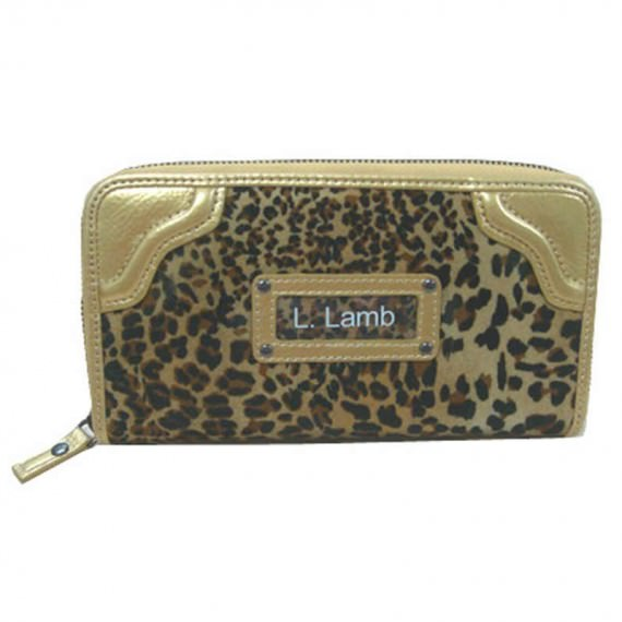 Leopard Velvet Long Wallet