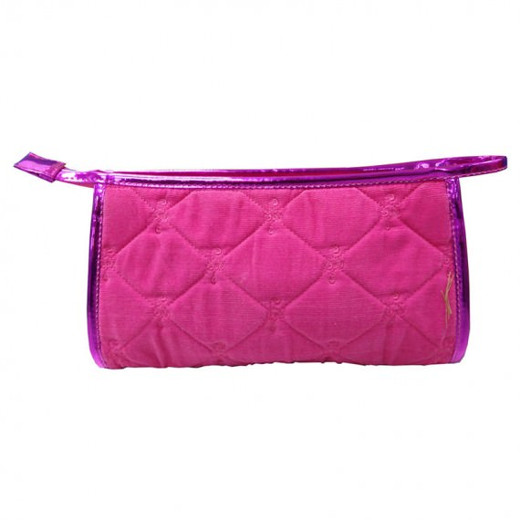 Pink Quilted bag for storing cosmetic