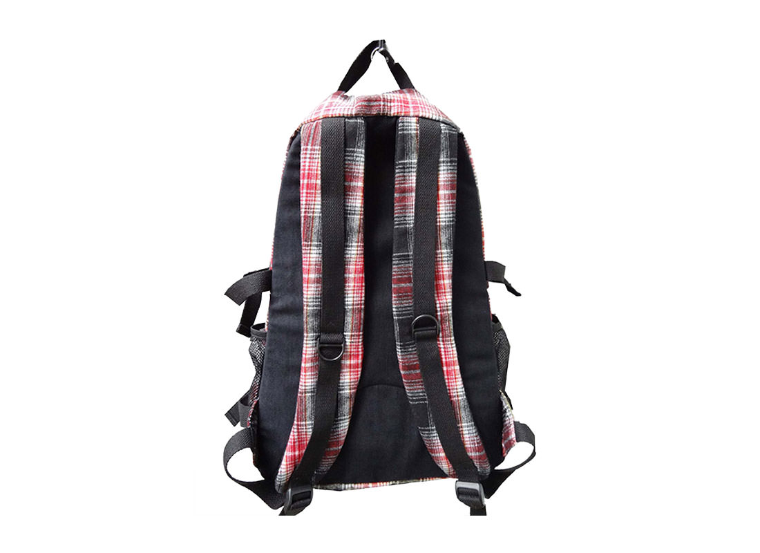 Plaid Backpack for Casual Use Back