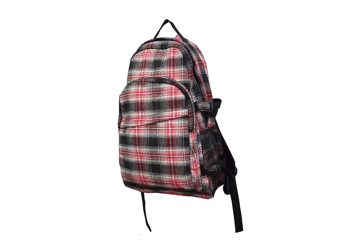 Plaid Backpack for Casual Use