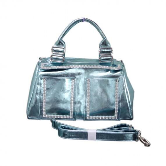 Metallic Blue Handbag