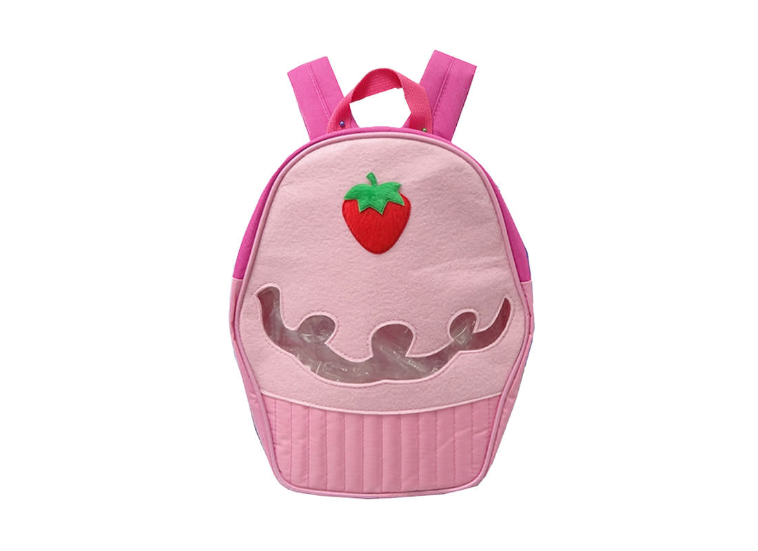 Cupcake Shaped Childern Backpack in Pink
