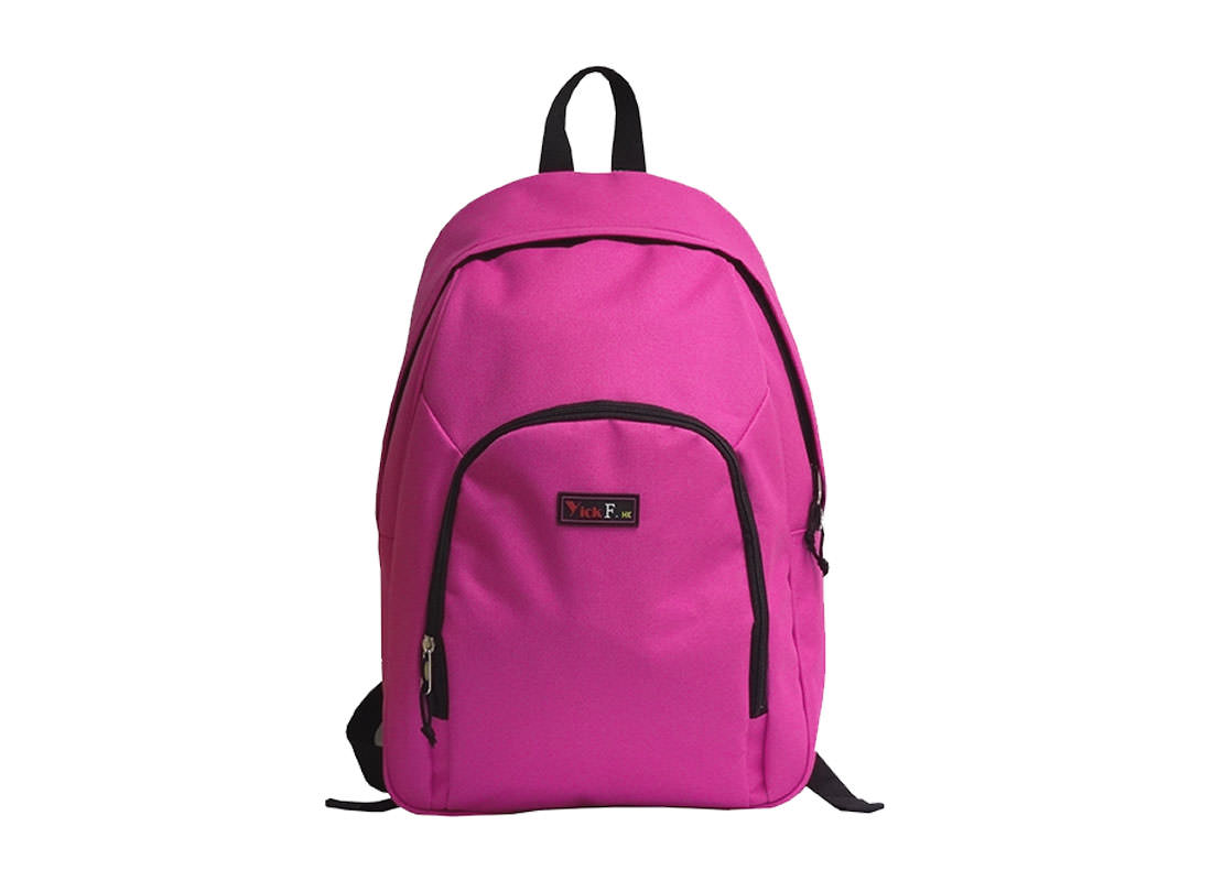 Pink casual backpack for women & girls front