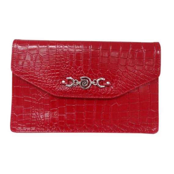 Faux Crocodile Clutch bag