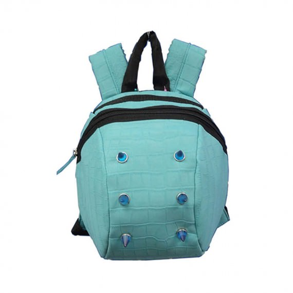 Sky Blue Backpack with Plastic Studs