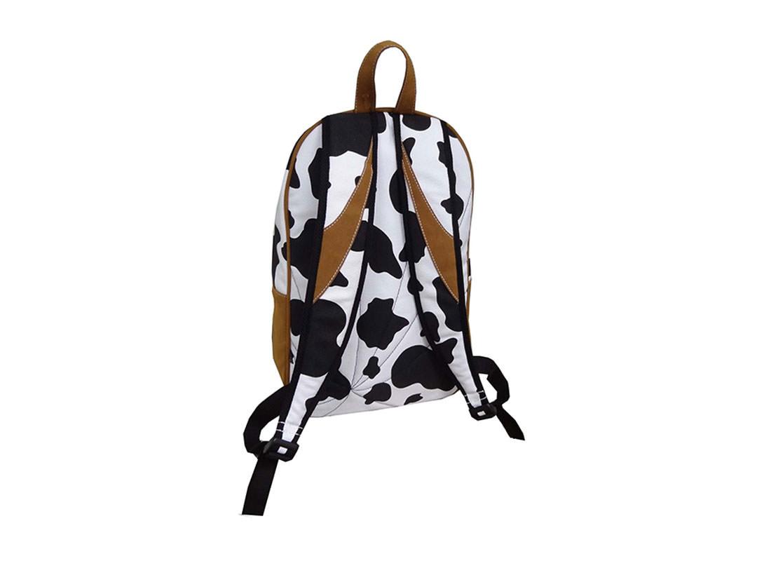 Cow Print Backpack back